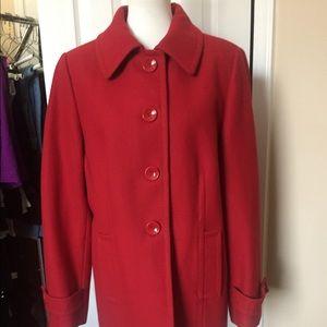 GUC AK Anne Klein wool blend short pea coat